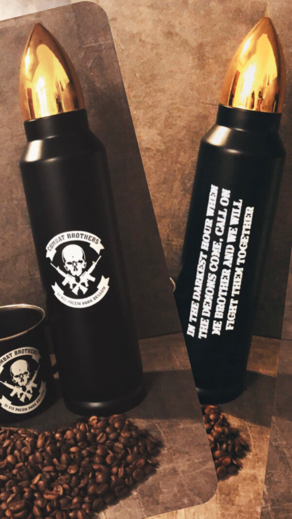 Combat Brothers Thermosflasche Thermos Patrone Hülse 1000 ml